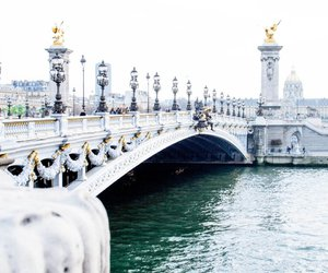 travel, bridge, and paris image