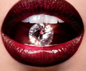 diamond, fashion, and lips image
