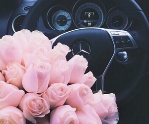 flowers, car, and rose image