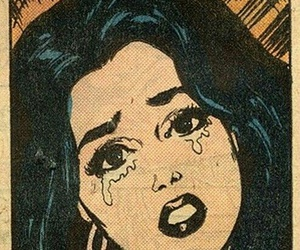 comic, girl, and vintage image