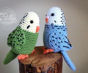 bird, colors, and crochet image