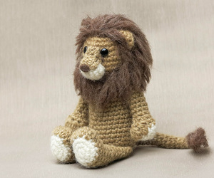 crochet, lion, and soft image