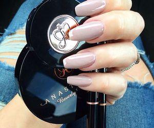 makeup, nails, and girly image