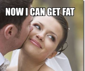 funny, fat, and wedding image