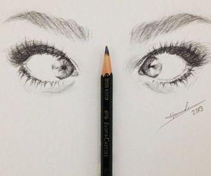 eyes, drawing, and art image