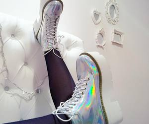 shoes, holographic, and alternative image