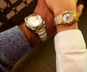 couple, watch, and forever image