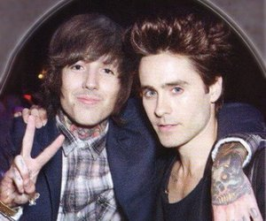 jared leto, oliver sykes, and bring me the horizon image