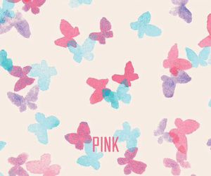butterflies and pink image