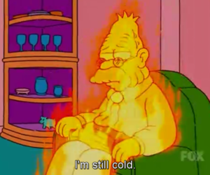 cold, simpsons, and the simpsons image