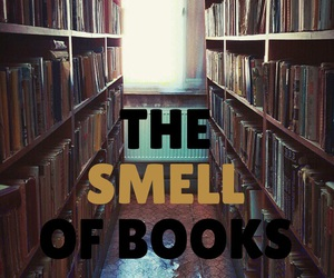 books, smell, and easel image