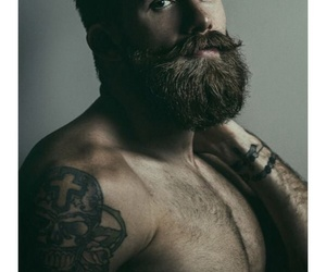 babe, beard, and hairy image