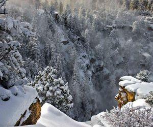 canyon, grand canyon, and snow image