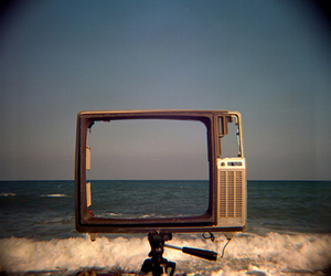 ocean and tv image