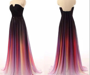 dress and ombre prom dress image