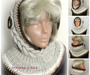 etsy, neck warmer women, and pixie hat image