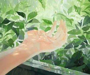 anime, art, and green image