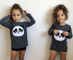girl, brunette, and twins image