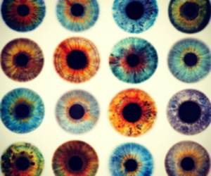 iris, psychedelic, and pupils image