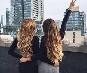 hair, girls, and friends image