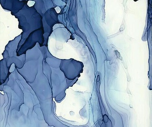 blue, art, and watercolor image