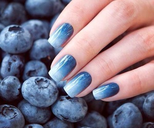nails, blue, and blueberry image