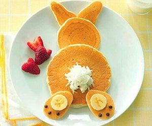 food, pancakes, and rabbit image