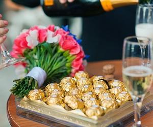 chocolate, flowers, and luxury image
