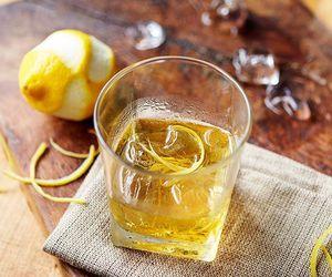 drink, whisky, and lemon zest image