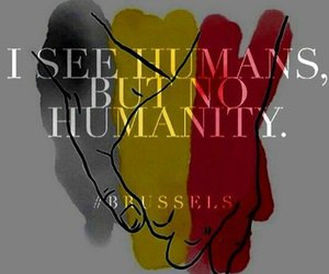brussels, humanity, and attack image