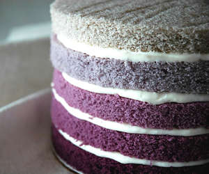 purple, cake, and ombre image