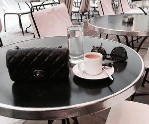 chanel, coffee, and sunglasses image
