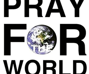 world and pray for the world image