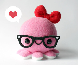 pink, octopus, and kawaii image