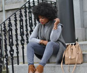 Afro, casual, and model image
