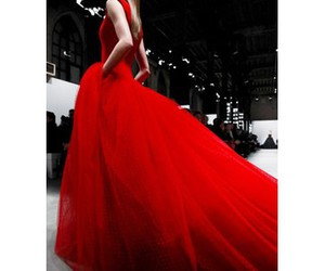 catwalk, maxi, and red image