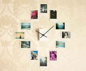 clock, diy, and photo image