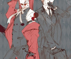 kuroshitsuji, grell sutcliff, and ronald knox image