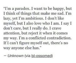 Paradox, quotes, and me image