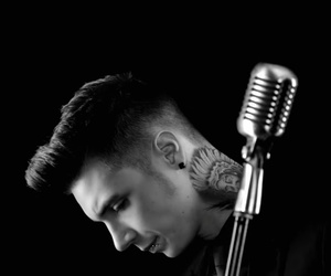 black and white, andy biersack, and rock image