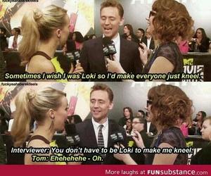 loki, funny, and tom hiddleston image