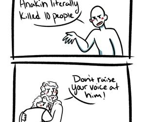 Anakin Skywalker, humor, and obi wan kenobi image