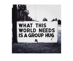 hug and text image