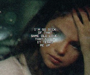 selena gomez, same old love, and Lyrics image