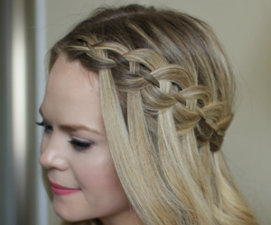 hairstyle, hairstyletutorial, and waterfallhairstyle image