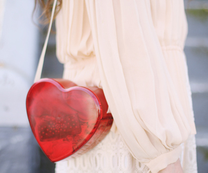bag, fashion, and heart image