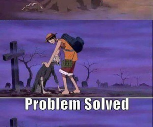 one piece, funny, and luffy image