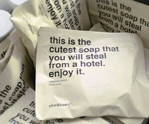 soap, hotel, and funny image