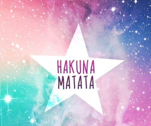 hakuna matata, wallpaper, and galaxy image