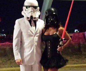 Halloween, star wars, and couple image